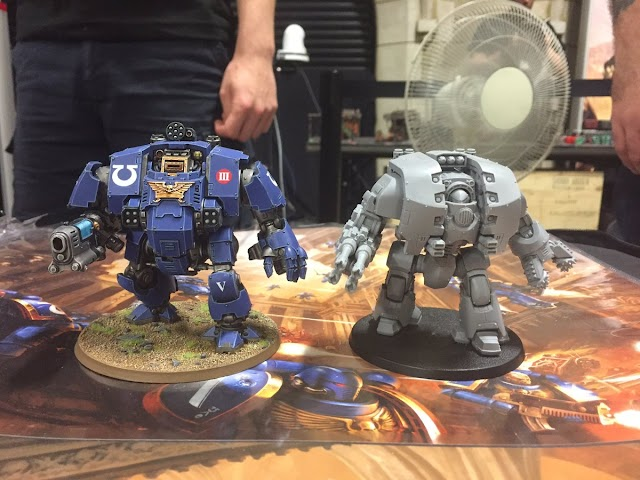 The New Primaris Redemptor Dreadnought/ Next to a Leviathan