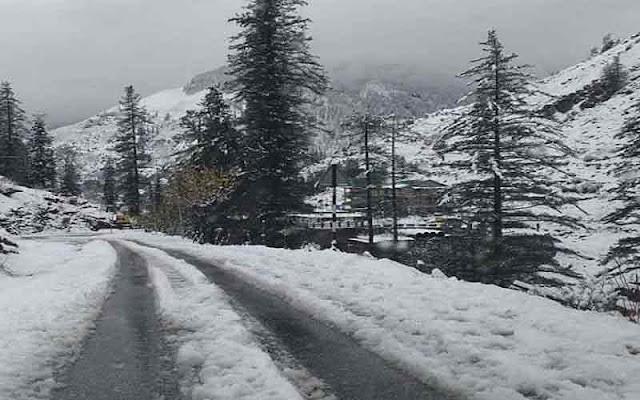 हिमाचल की ऊंची चोटियों पर ताजा हिमपात, 2 दिन बारिश के साथ अंधड़ की चेतावनी