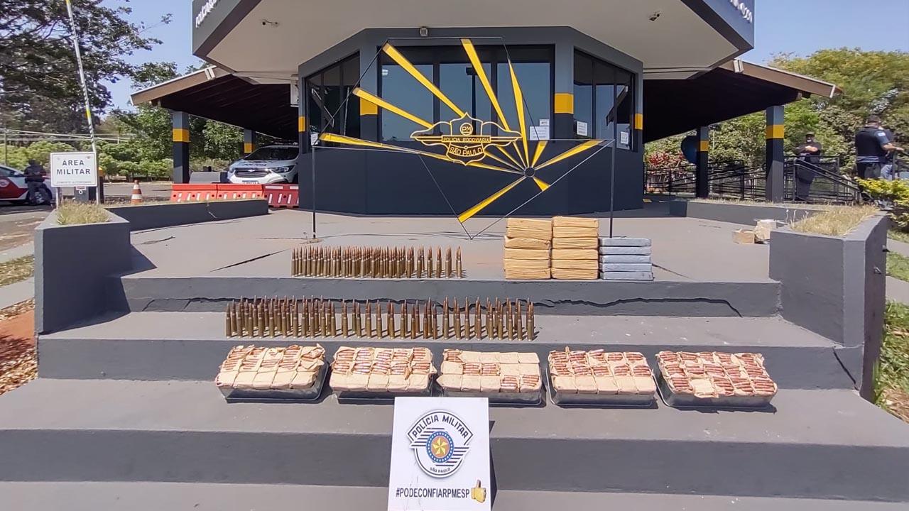 TOR apreende mais de 17 quilos de drogas e de 4 mil munições em Assis