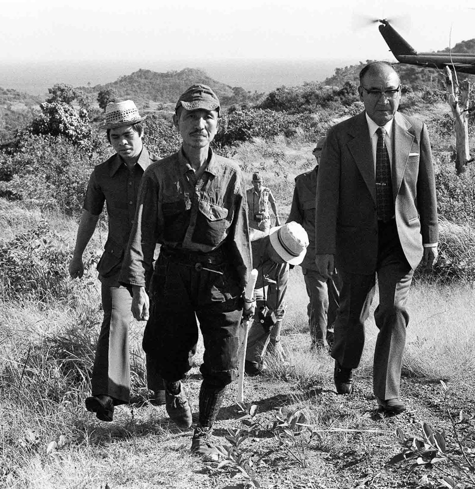 Taniguchi flew to Lubang, and on March 9, 1974, he formally relieved Onoda of his duties, nearly 29 years after the end of the war