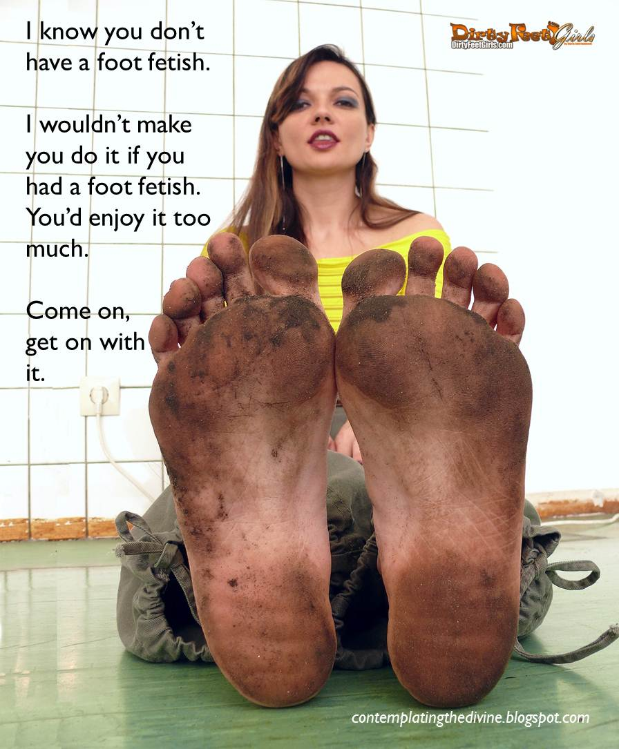 feet captions Dirty humiliation