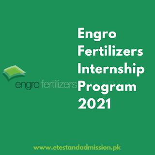 Engro Fertilizer Internship Program 2021