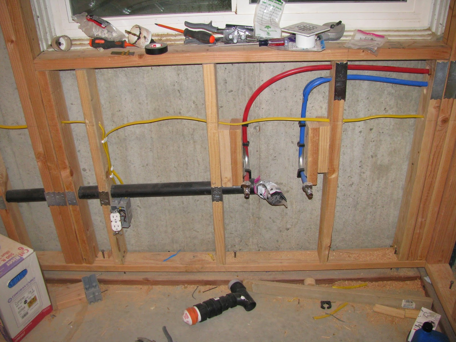 Basement Project  Finished With Framing  Electrical