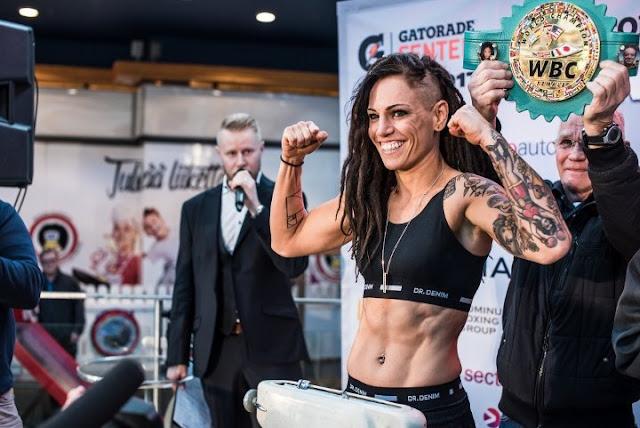 Eva Wahlstrom WBC Women's Junior Lightweight Champion