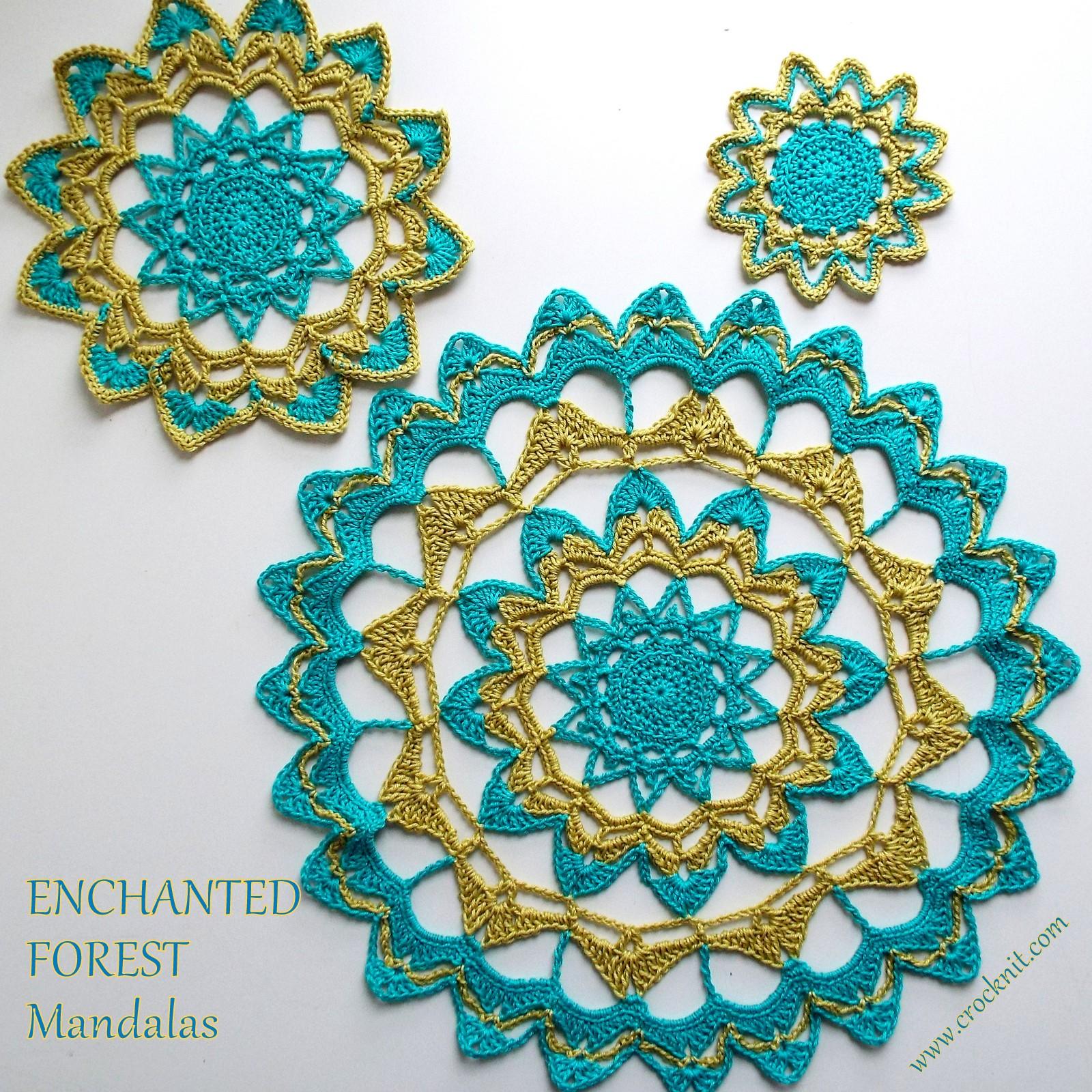 Microcknit Creations Enchanted Forest Mandalas