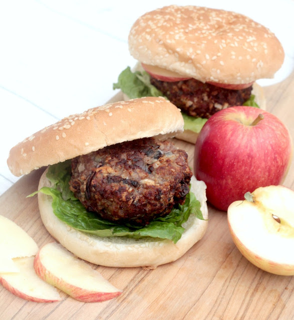 making pork and apple burgers