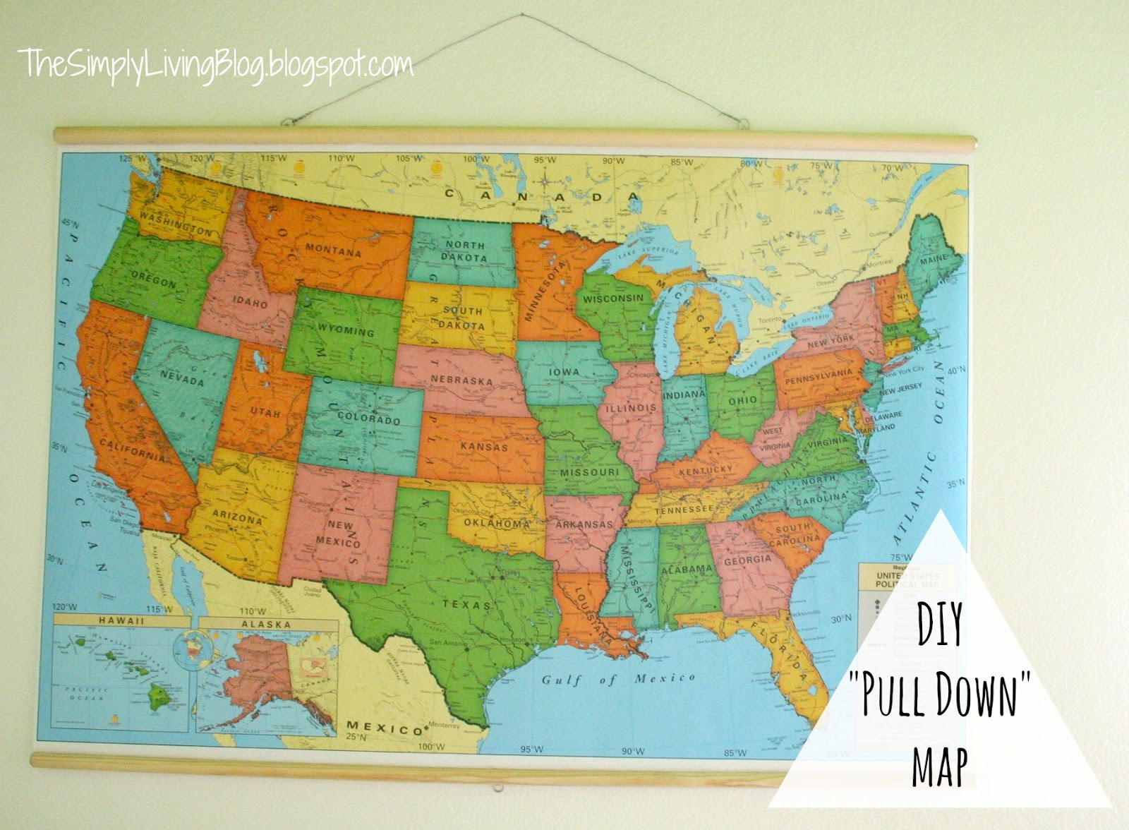 Pull Down Map Simply Living : DIY