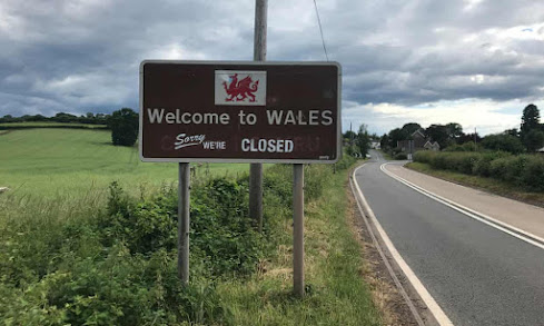 Wales under the covid. Welcome sign