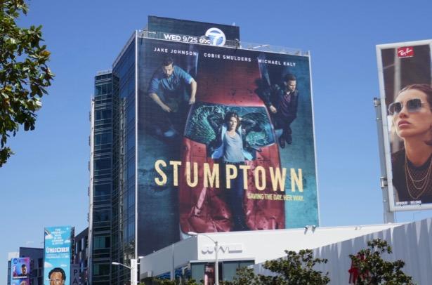 Giant Stumptown series premiere billboard