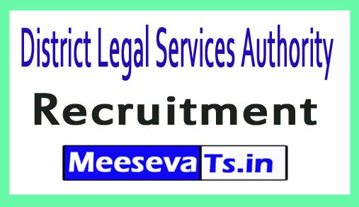 District Legal Services Authority DLSA Recruitment