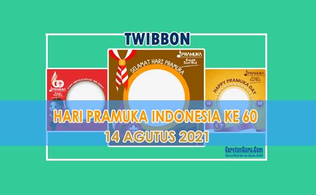 Link Twibbon Hari Pramuka Ke 60 Tanggal 14 Agustus 2021 Terbaik
