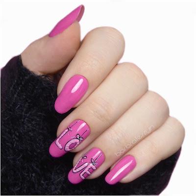 pomysł na walentynkowe paznokcie