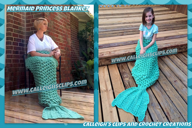 Calleighs Clips Crochet Creations Crochet Mermaid Blanket In New