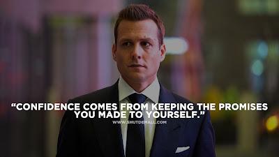 Confidence Harvey Specter Quote