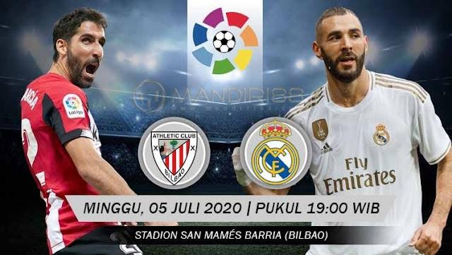 Prediksi Athletic Bilbao Vs Real Madrid, Minggu 05 Juli 2020 Pukul 19.00 WIB