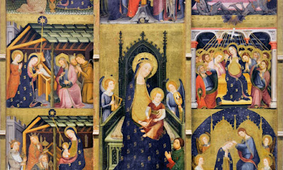 The altarpiece of the Joys of the Virgin