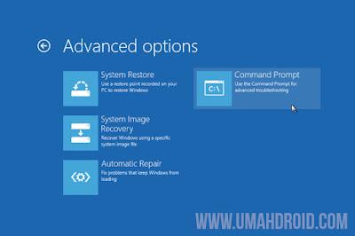 Pilih Advance Option Repair Windows