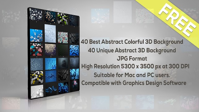 40 Best Abstract Colorful 3D Background For Photoshop Free Download