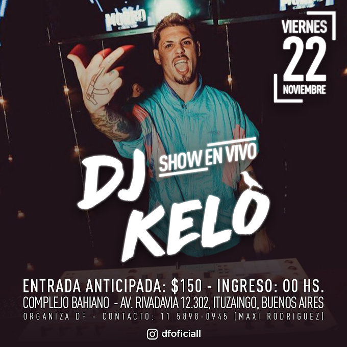 Flyer para show en vivo de DJ KELO