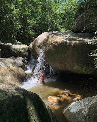 cachoeira do sertão do trombudo em Itapema