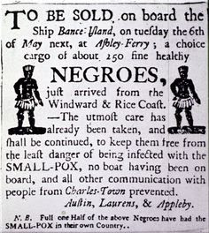 Negroes - to be sold