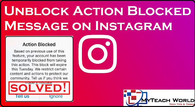 2 Ways to Unblock Action Blocked Message on Instagram | Instagram Action Blocked