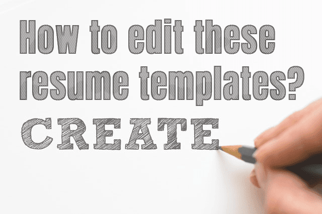 How to edit Word resume templates