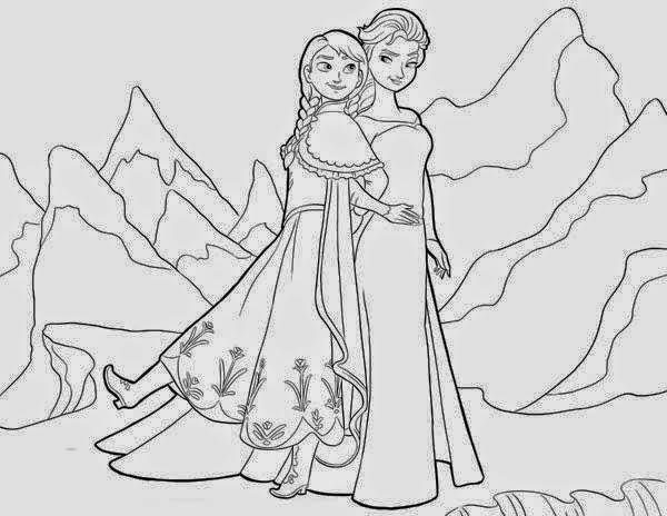 Dibujos Para Colorear Frozen Una Aventura Congelada