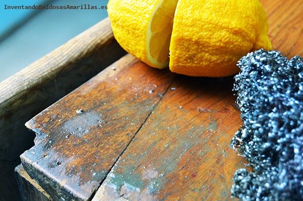 Limón para quitar suciedad