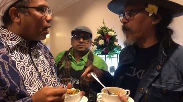 Saat Sujiwo Tejo, Ali Ngabalin, dan Haikal Hassan Berdebat Soal Makanan
