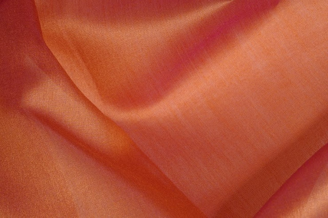 Brick Orange Cotton Silk Fabric