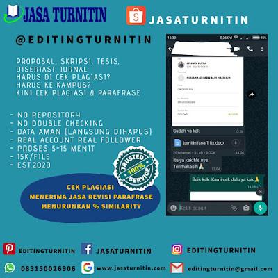 Jasa Cek Plagiarisme Online Gratis Tercepat Di Sumatera Utara