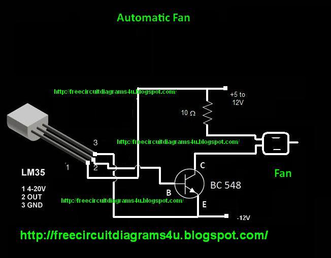 Free Circuit Diagrams 4u  Automatic Fan  Dc