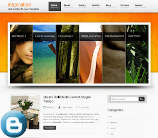 Inspiration Beautiful blogger templates  with slider and clean by sora template