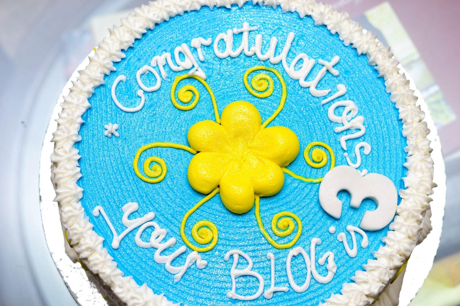 Beautiful Anniversary Cake with Yellow Spirals