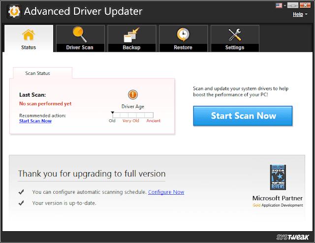 Advanced Driver Updater 2.7.1086.16665 Final Crack+Key