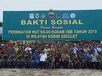 Danrem 022/PT Dampingi Pangdam l/BB Dalam Rangka Kunker Ke Pulau Kampai