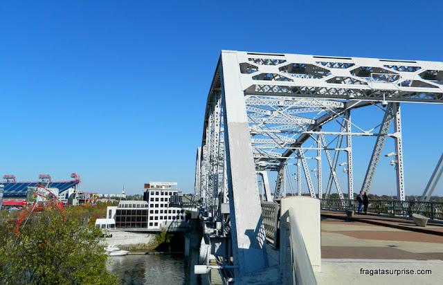 Nashville, ponte de pedestres John Seigenthaler