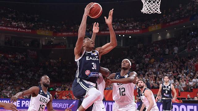 Μουντομπάσκετ 2019, Ελλάδα-ΗΠΑ 53-69: Έχασε, αλλά δεν χάθηκε