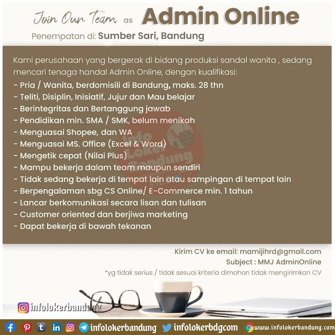 Lowongan Kerja Mamiji Bandung Januari 2021