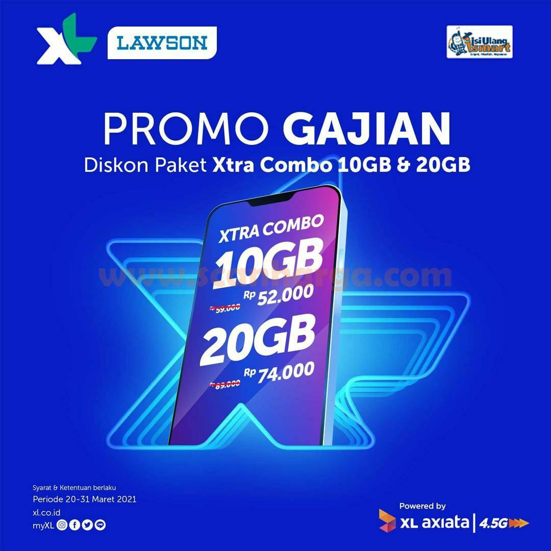 Lawson Promo Gajian - DISKON Paket Xtra Combo 10GB & 20GB