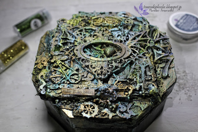 Mixed Media steampunk box workshop  by Phoebe Tonosaki