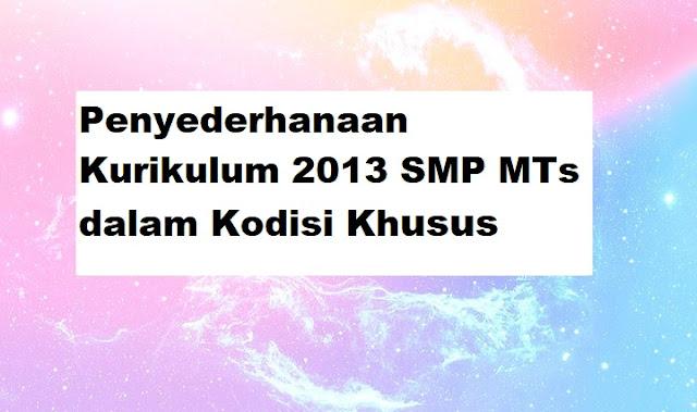 Penyederhanaan Kurikulum 2013 SMP