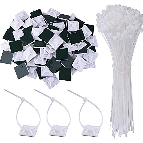 100 x Strong Cable Ties Nylon Zip Ties Clear Various Lengths