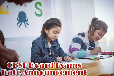 cbse board exam date annouced