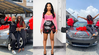 Mercy Eke Gifts Her Sister Brand New Venza Car For Her Birthday (PHOTOS)