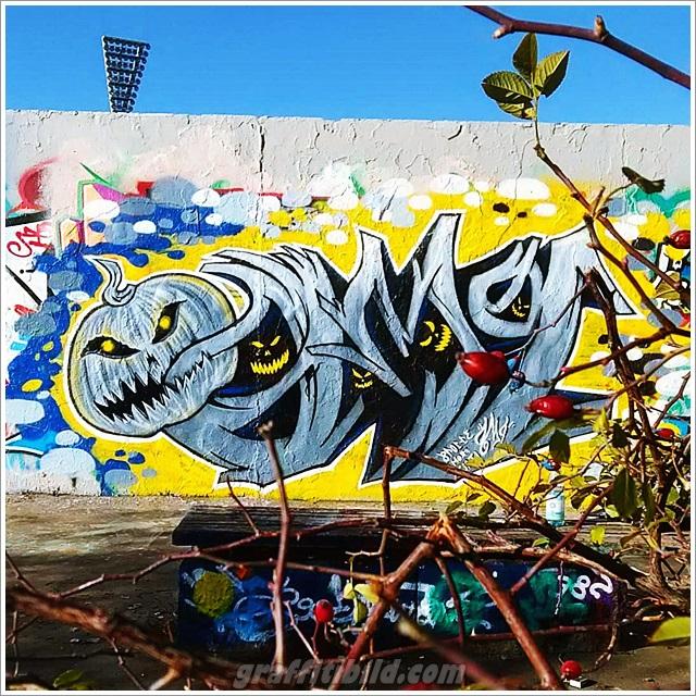 Halloween, graffiti, street art, kürbis, halloween pumpkin, graffiti wall
