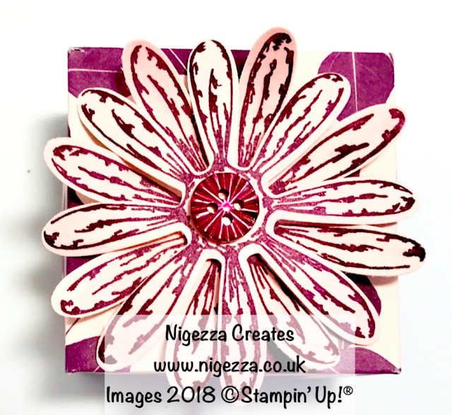 Daisy Lidded Gift Box Using Stampin' Up!® Natures Poem Nigezza Creates