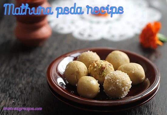 Easy homemade sweet mathura peda recipe