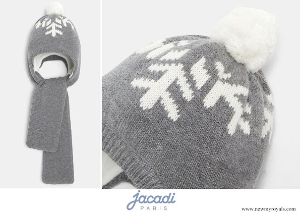 Prince Charles wore Jacadi Toddler boy hat-scarf
